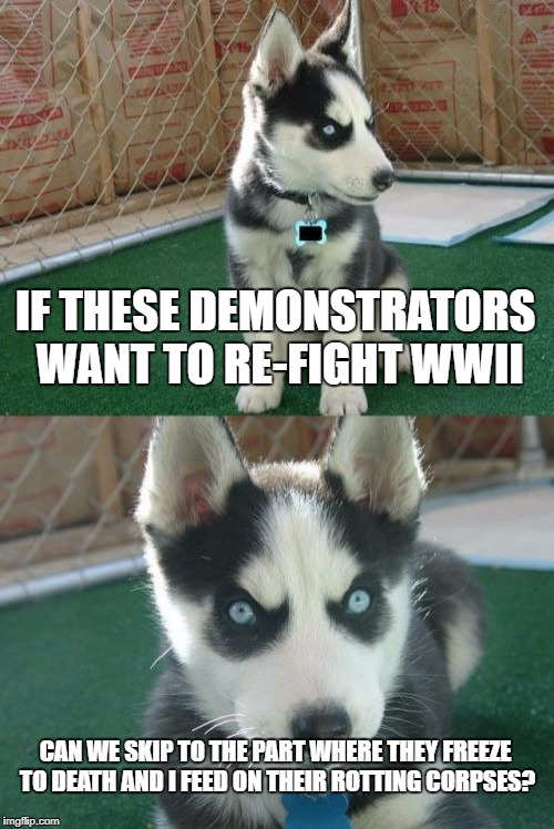 "A Siberian Husky Comments on the ""Unite the Right"" Protests 