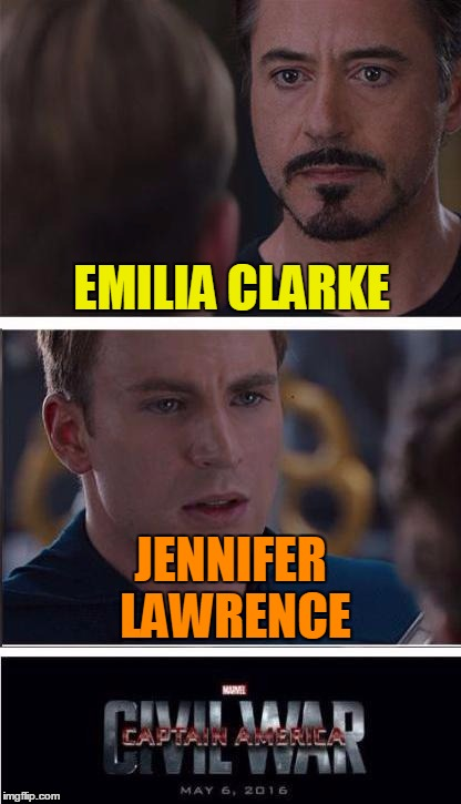 EMILIA CLARKE JENNIFER LAWRENCE | made w/ Imgflip meme maker