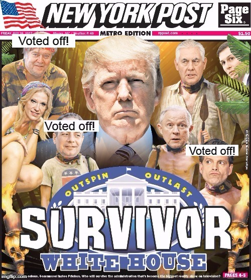 "White House Reality Show ""Survivor"" Edition 