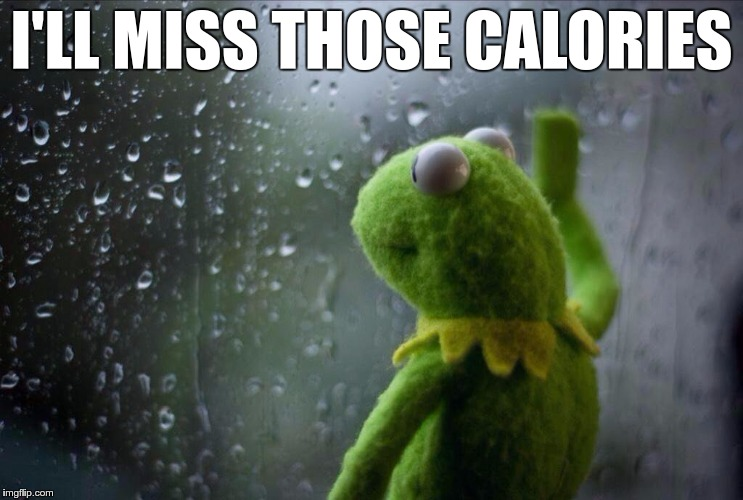I'LL MISS THOSE CALORIES | made w/ Imgflip meme maker