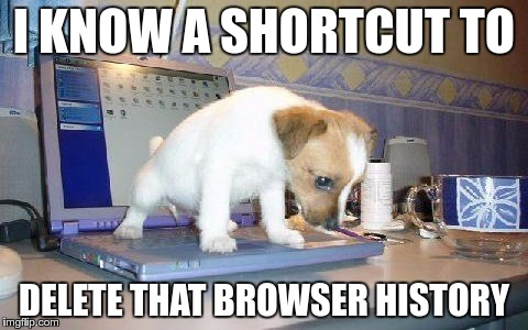 I KNOW A SHORTCUT TO DELETE THAT BROWSER HISTORY | made w/ Imgflip meme maker