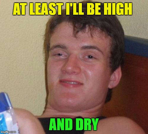 10 Guy Meme | AT LEAST I'LL BE HIGH AND DRY | image tagged in memes,10 guy | made w/ Imgflip meme maker