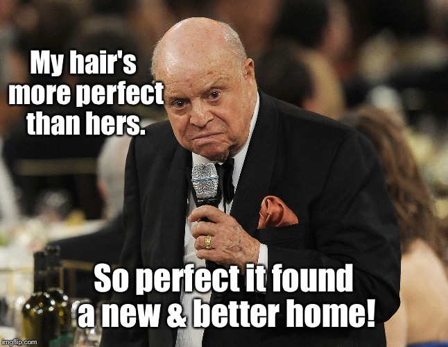 My hair's more perfect than hers. So perfect it found a new & better home! | made w/ Imgflip meme maker
