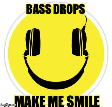 BASS DROPS MAKE ME SMILE | image tagged in dj smiley | made w/ Imgflip meme maker