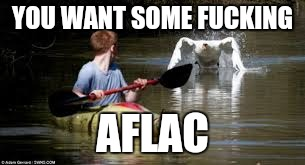 I'm coming | YOU WANT SOME F**KING AFLAC | image tagged in meme | made w/ Imgflip meme maker