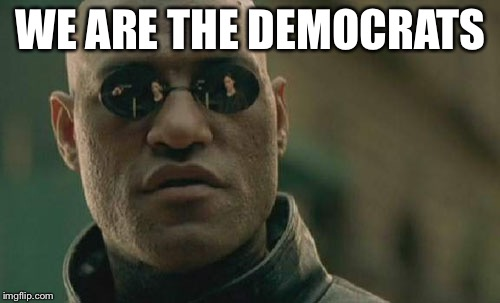 Matrix Morpheus Meme | WE ARE THE DEMOCRATS | image tagged in memes,matrix morpheus | made w/ Imgflip meme maker