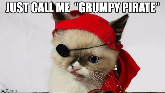 "If I ever lose an eye… | JUST CALL ME  ""GRUMPY PIRATE"" 