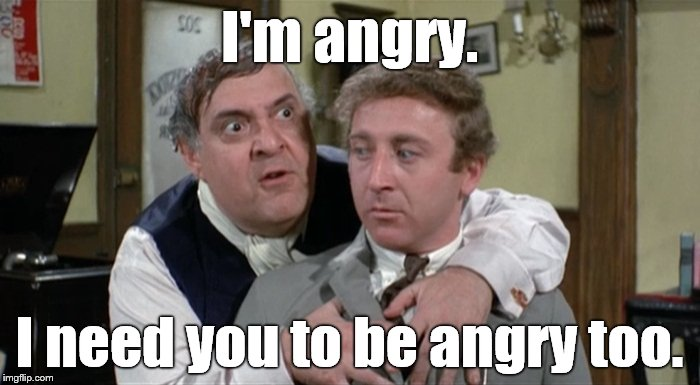 Bialistock & Bloom | I'm angry. I need you to be angry too. | image tagged in bialistock  bloom | made w/ Imgflip meme maker
