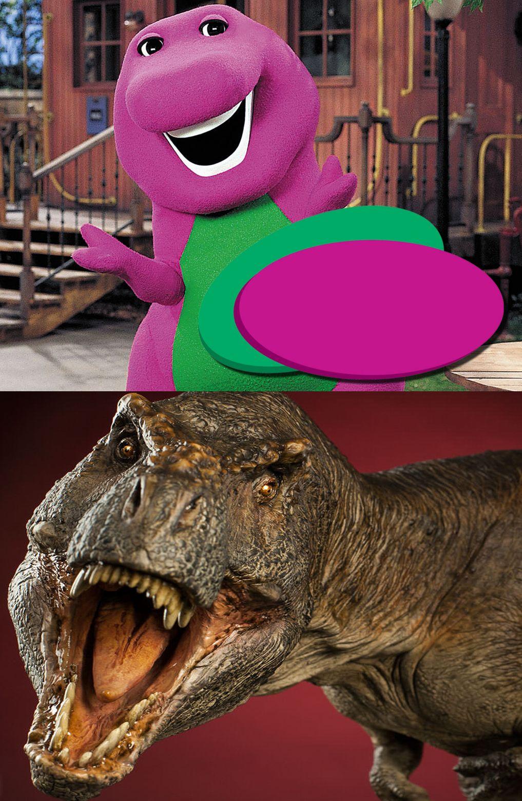 barney t rex blank template imgflip