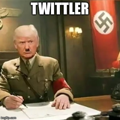And then he was... |  TWITTLER | image tagged in donald trump hitler,twittler | made w/ Imgflip meme maker