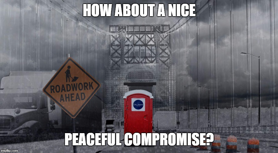 HOW ABOUT A NICE PEACEFUL COMPROMISE? | made w/ Imgflip meme maker