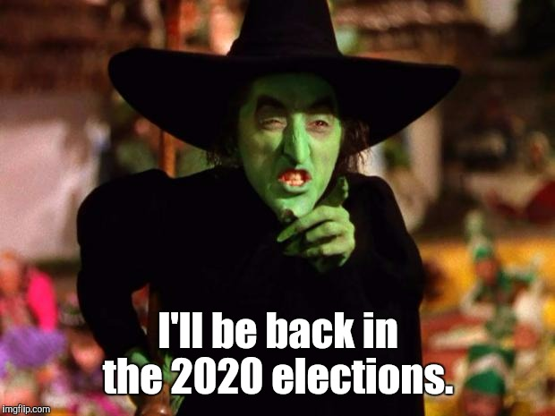 I'll be back in the 2020 elections. | made w/ Imgflip meme maker