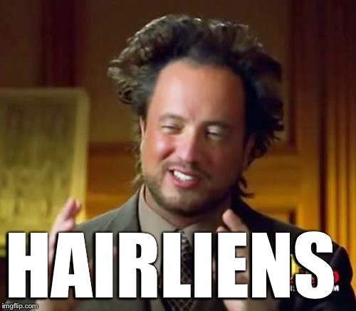 Ancient Aliens Meme | HAIRLIENS | image tagged in memes,ancient aliens | made w/ Imgflip meme maker