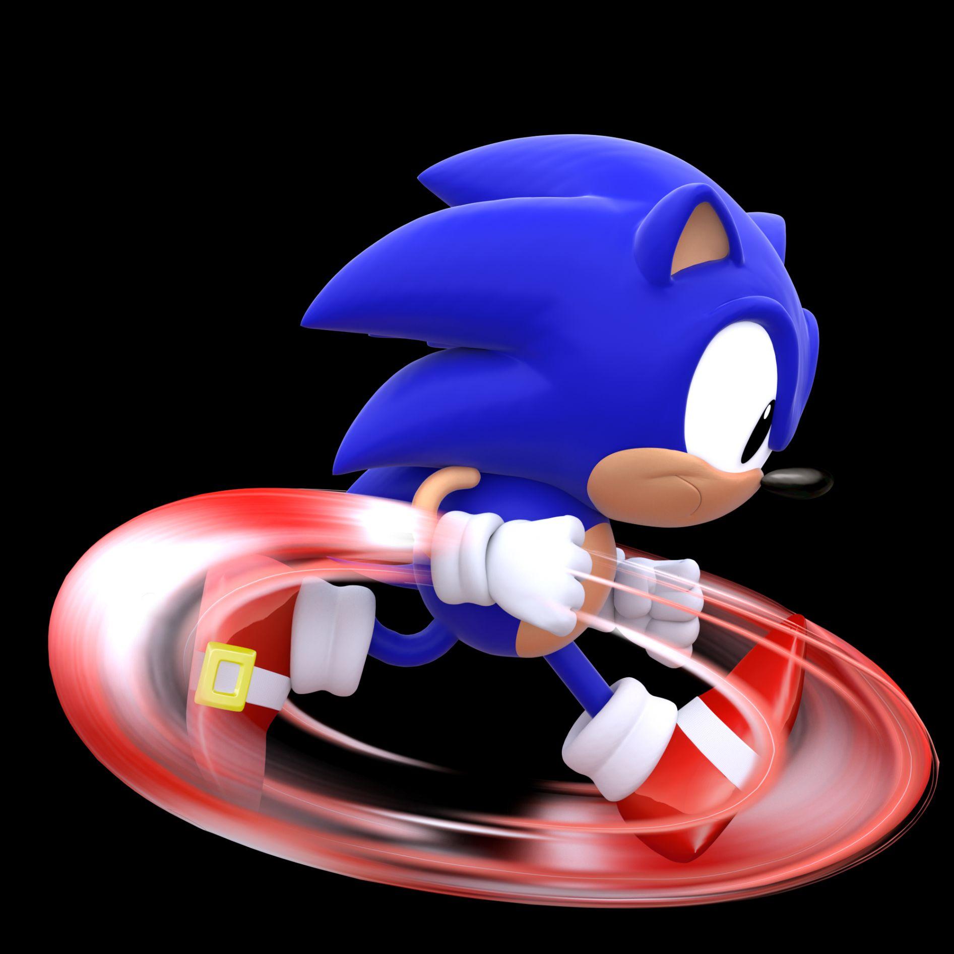Running Sonic (Classic) Blank Template