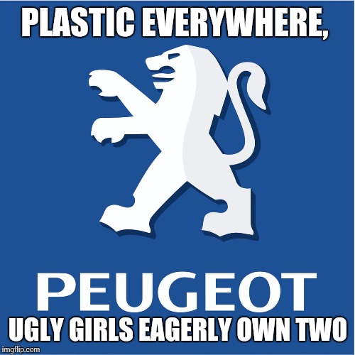 PLASTIC EVERYWHERE, UGLY GIRLS EAGERLY OWN TWO | made w/ Imgflip meme maker