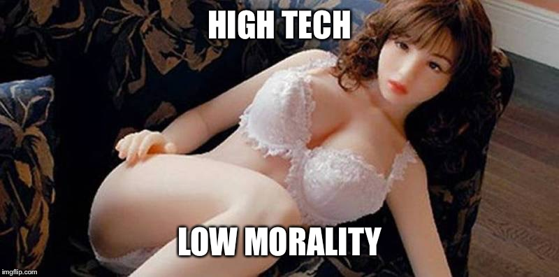 HIGH TECH LOW MORALITY | made w/ Imgflip meme maker