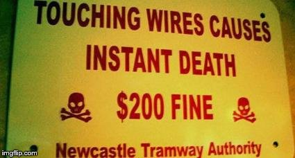 I Don't Think The $200 Fine Is Necessary | image tagged in memes,warning sign,funny | made w/ Imgflip meme maker