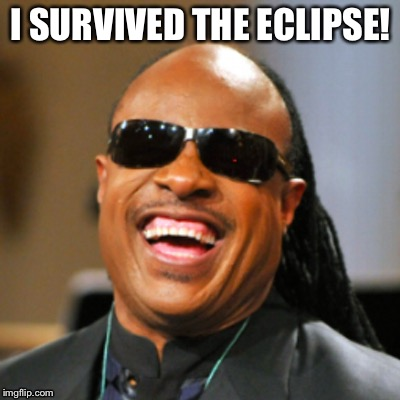 Eclipse Survivor | I SURVIVED THE ECLIPSE! | image tagged in solar eclipse | made w/ Imgflip meme maker