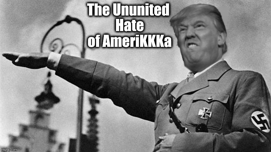 The Ununited Hate of AmeriKKKa | image tagged in donald trump hitler | made w/ Imgflip meme maker