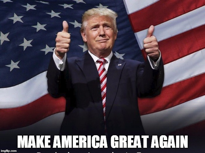 Donald Trump Thumbs Up | MAKE AMERICA GREAT AGAIN | image tagged in donald trump thumbs up | made w/ Imgflip meme maker