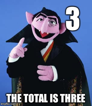 3 THE TOTAL IS THREE | made w/ Imgflip meme maker
