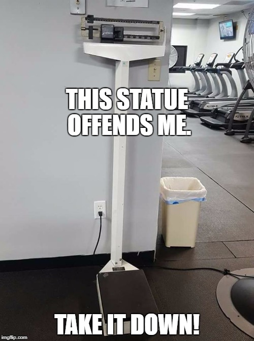 Let's just follow this logic to its inevitable conclusion. | THIS STATUE OFFENDS ME. TAKE IT DOWN! | image tagged in statue,offended,political meme | made w/ Imgflip meme maker