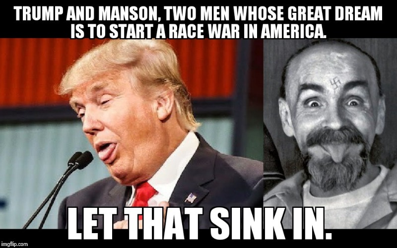 Two of a Kind | image tagged in trumpanzee,crazy,impeach trump | made w/ Imgflip meme maker