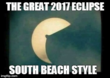 THE GREAT 2017 ECLIPSE SOUTH BEACH STYLE | image tagged in the boob eclipse | made w/ Imgflip meme maker