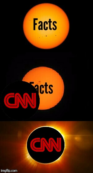 image tagged in cnn,fake news,solar eclipse,donald trump | made w/ Imgflip meme maker