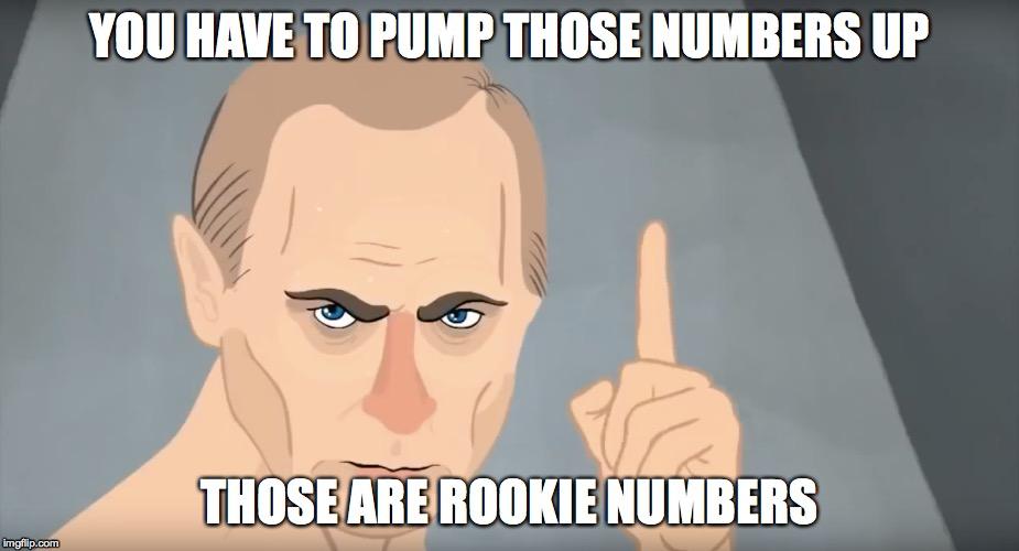 rookie numbers putin - Imgflip