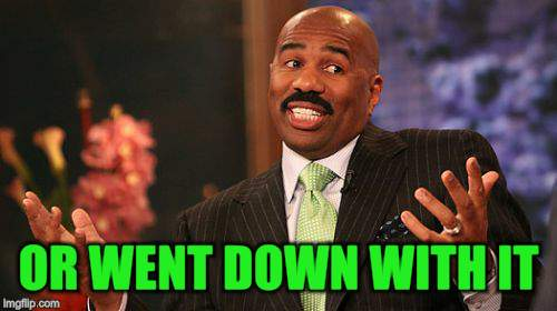 Steve Harvey Meme | OR WENT DOWN WITH IT | image tagged in memes,steve harvey | made w/ Imgflip meme maker