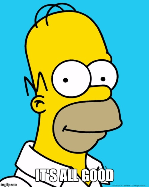 Homer Approval  | IT'S ALL GOOD | image tagged in homer approval | made w/ Imgflip meme maker