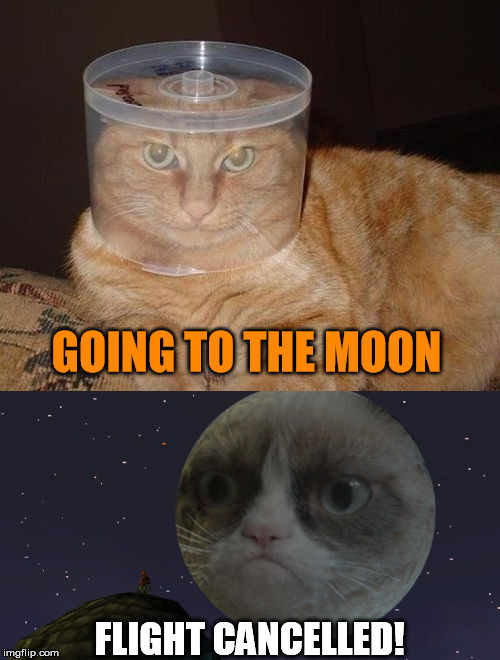 GOING TO THE MOON FLIGHT CANCELLED! | made w/ Imgflip meme maker