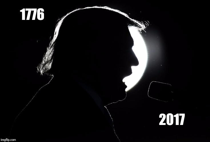 Timeline of total solar eclipses in America | 1776 2017 | image tagged in trump eclipse,solar eclipse | made w/ Imgflip meme maker