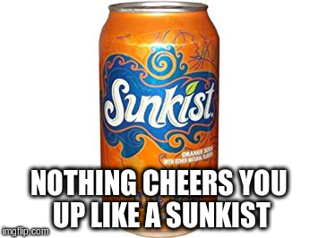 NOTHING CHEERS YOU UP LIKE A SUNKIST | made w/ Imgflip meme maker
