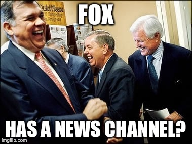 Men Laughing | FOX HAS A NEWS CHANNEL? | image tagged in memes,men laughing | made w/ Imgflip meme maker