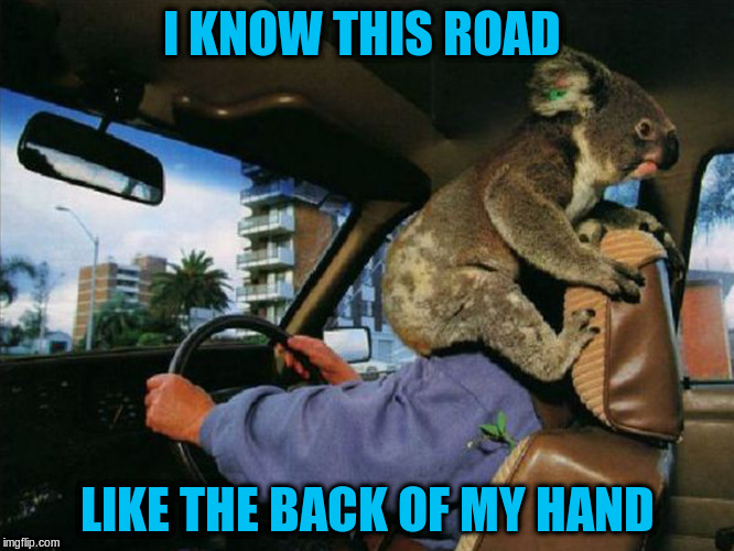 I KNOW THIS ROAD LIKE THE BACK OF MY HAND | made w/ Imgflip meme maker