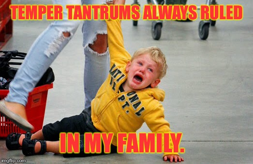 TEMPER TANTRUMS ALWAYS RULED IN MY FAMILY. | made w/ Imgflip meme maker