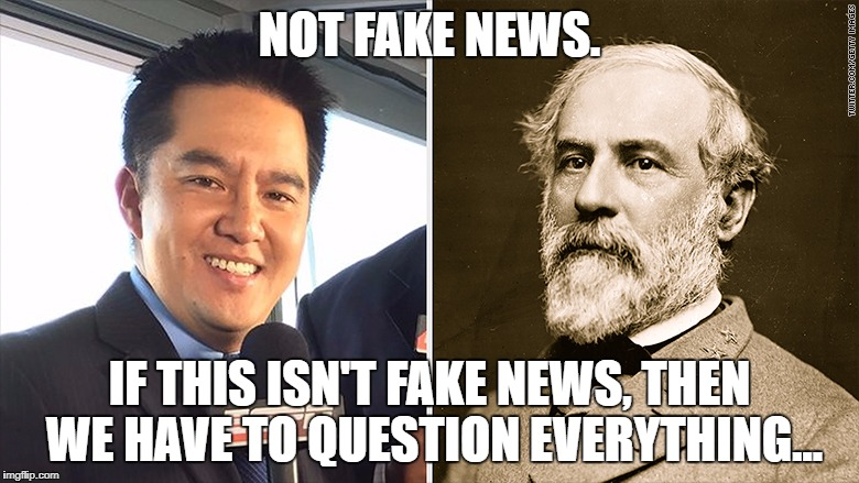 "ESPN Removed Robert Lee from UVA football game because his name ""sounds"" like a Confederate general. 