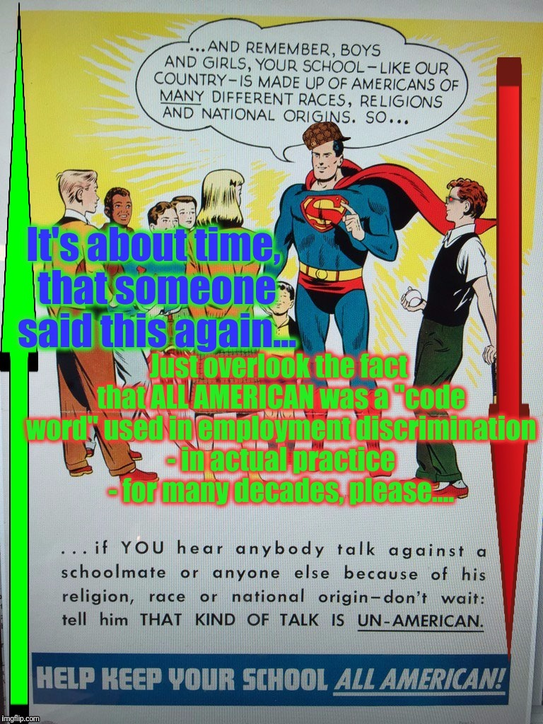 Because meanings change based on time and changed understanding...mixed messages and confusion are understandable. Not here. | . | image tagged in superman psa,antifa,anti-racist anti-xenophobia but yet still pro ethnocentrism some how,anti trump meme,scumbag superman,funny | made w/ Imgflip meme maker