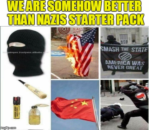 """Antifa activists...told CNN that their goal is peace and inclusivity. And their methods are often violent."" 