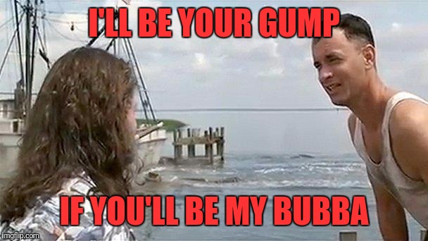 Shrimp boat Cap'n | I'LL BE YOUR GUMP IF YOU'LL BE MY BUBBA | image tagged in forrest gump that's my boat,memes,funny,funny memes,dank | made w/ Imgflip meme maker