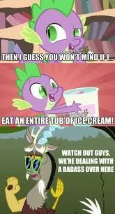 Oh the guts! | image tagged in memes,my little pony,we got us a badass over here | made w/ Imgflip meme maker