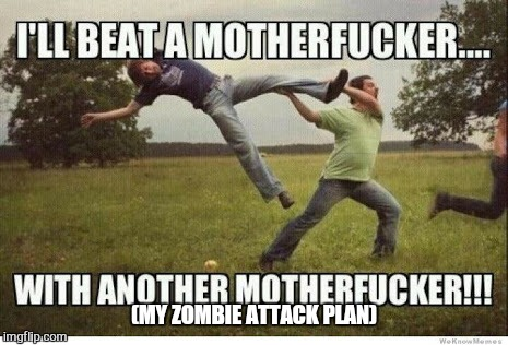 Its not a well thort out plan but im working on it  | (MY ZOMBIE ATTACK PLAN) | image tagged in memes,zombies,zombie week,funny,brains,cheese | made w/ Imgflip meme maker