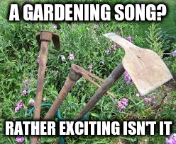 A GARDENING SONG? RATHER EXCITING ISN'T IT | made w/ Imgflip meme maker