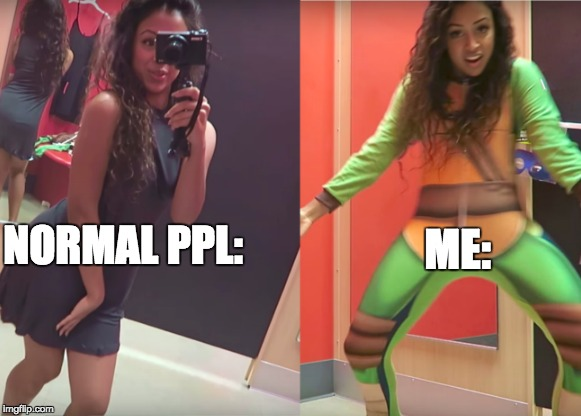 At malls be like. | NORMAL PPL: ME: | image tagged in tmnt | made w/ Imgflip meme maker