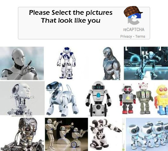 scumbag captcha | image tagged in not a robot | made w/ Imgflip meme maker
