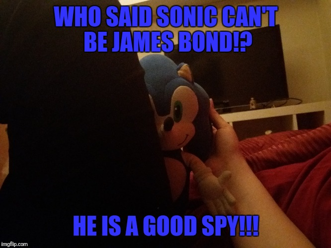 WHO SAID SONIC CAN'T BE JAMES BOND!? HE IS A GOOD SPY!!! | image tagged in sonic the hedgehog | made w/ Imgflip meme maker