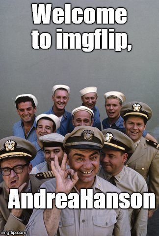 McHale's Navy | Welcome to imgflip, AndreaHanson | image tagged in mchale's navy | made w/ Imgflip meme maker