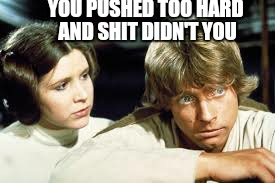 YOU PUSHED TOO HARD AND SHIT DIDN'T YOU | made w/ Imgflip meme maker